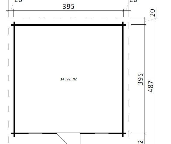 Vierasmaja Aruba 15m² / 4,1 x 4,1 m / 44mm