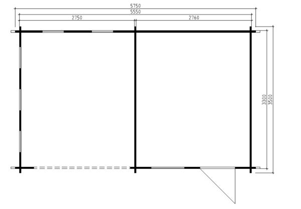 Vierasmaja Carol B 9m² / 5,5 x 3,5 m / 40mm