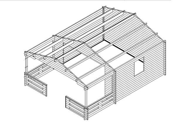 Vierasmaja Franz 15m² / 5,8 x 4,3 m / 44mm