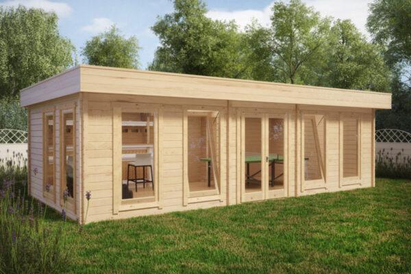 Pihamökki Garden Room A 30m² / 8 x 4 m / 70mm