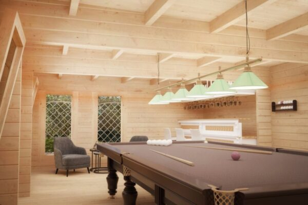 Pihamökki Garden Snooker Room 38m² / 8 x 5 m / 70mm