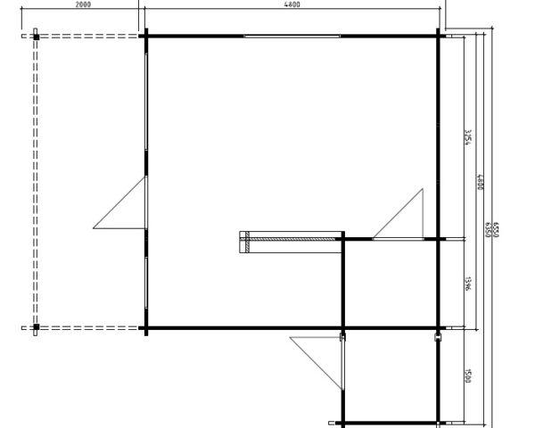 Kesämökki Jan 24,5m² / 6,5 x 5 m / 50mm