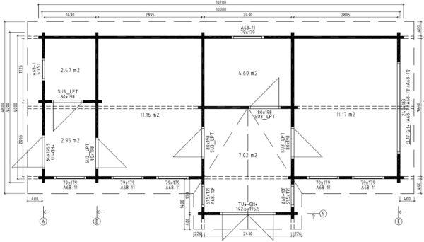 Vierasmaja Hansa Office 40m² / 10 x 4 m / 70mm