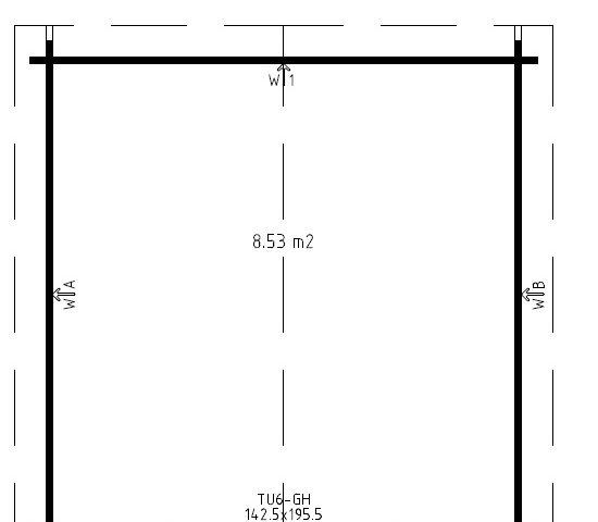 Pihavarasto Lucas A 8,5m² / 3,2 x 3,2 m / 40mm