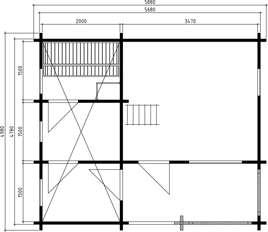 Pihasauna Karina 26,5m² / 5,9 x 5 m / 70mm
