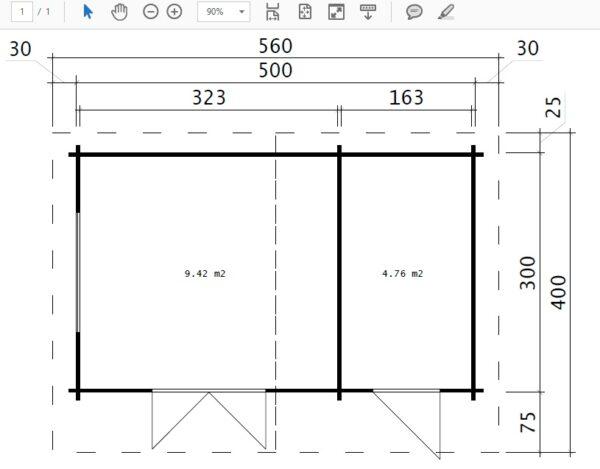 Vierasmaja + Varasto Super Otto 15m² / 44mm / 5 x 3 m
