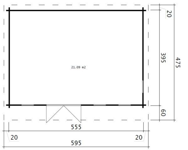 Vierasmaja Barbados 21m² / 6 x 4 m / 44mm