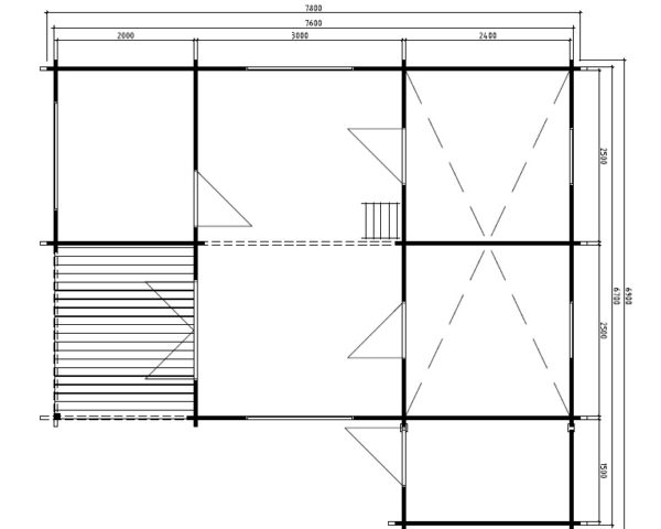 Kesämökki Helsinki 35m² / 6,9 x 7,8 m / 50mm