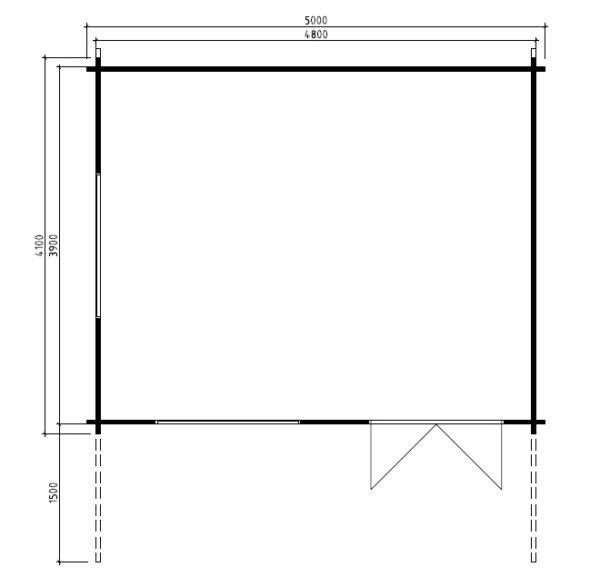 Vierasmaja Karmen 18m² / 5 x 4 m / 50mm