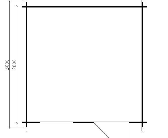 Vierasmaja Lily D 7,5m² / 3 x 3 m / 28mm