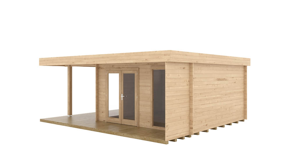 Vierasmaja Hansa Lounge XL 14,5m² / 6 x 5 m / 44mm