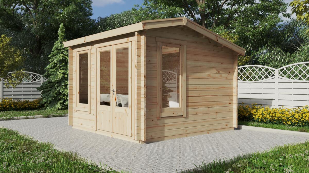 Pihamökki-Minitoimisto Mini Garden Office 1 9m2 / 3 x 3 m / 44mm