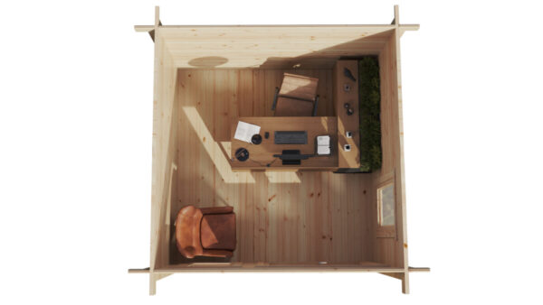 Pihamökki-Minitoimisto Mini Garden Office 2 9m2 / 3 x 3 m / 44mm