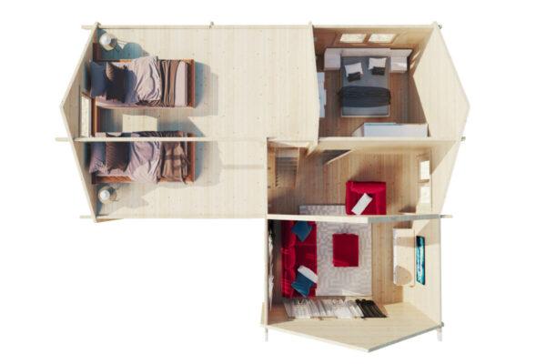 Hansa Holiday Q yhden makuuhuoneen mökki nukkumaparvella